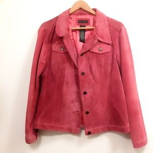 Fabulous! Lined For Joseph Pink Lined Suede Jacket